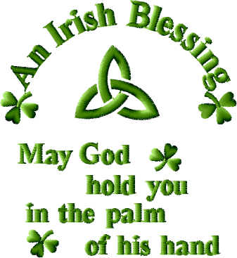 An Irish Blessing Free Embroidery Design