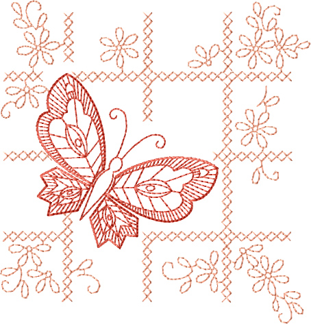 Butterfly Motif Free Embroidery Design