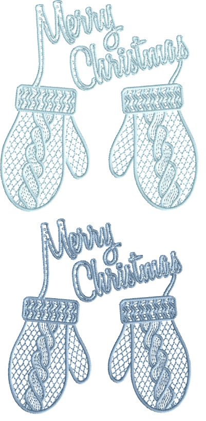 Christmas Gloves Free Embroidery Design