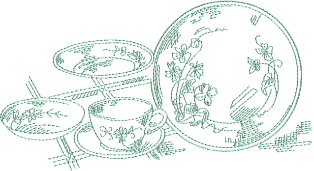 Dinne rTime Free Embroidery Design