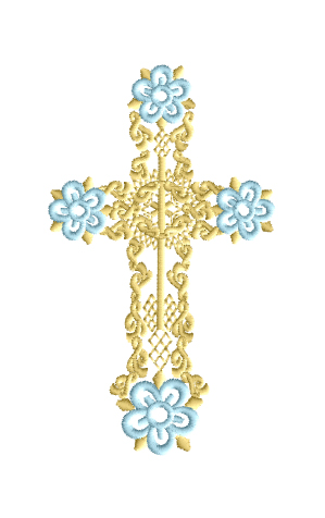Easter Cross Free Embroidery Design