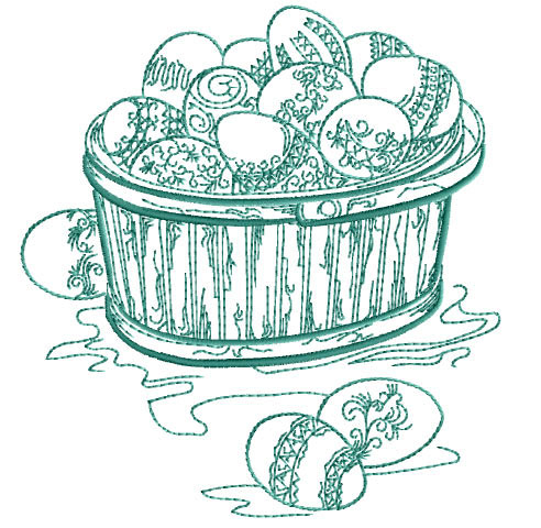 Easter Eggs Basket Free Embroidery Design