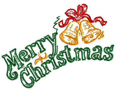 Merry Christmas Free Embroidery Design