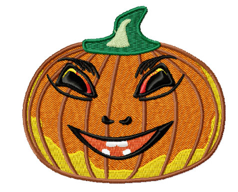 Pumpkin - free machine embroidery design