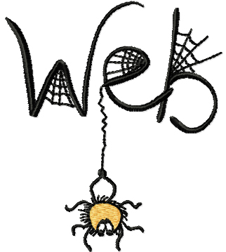 Spider on the Web Free Embroidery Design