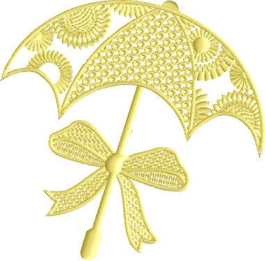 Sunny Umbrella free embroidery design