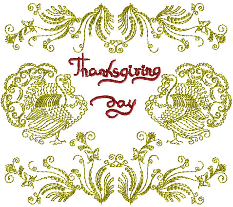 Thanksgiving Motif Free Embroidery Design