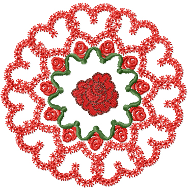 Valentines Wreath Free Embroidery Design