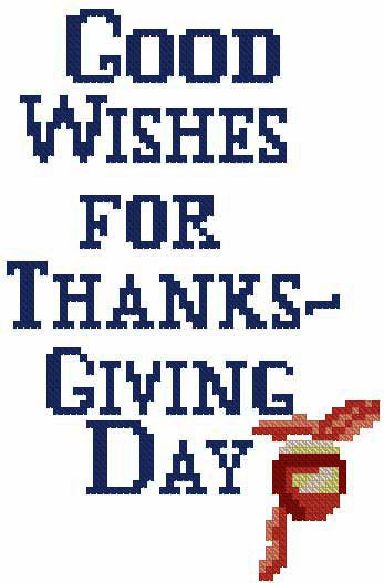 Good Wishes - Machine Cross Stitch Design